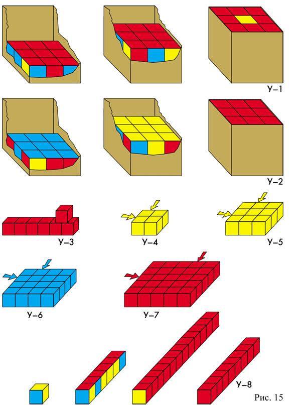 Сложи кубики в коробку.